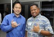 Jon Riki Karamatsu and Allen Yadao at PBN's Pau Hana at The Modern Honolulu.