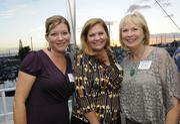 From left: Karen Maciorowski, Kathleen O'Malley and Susan Kunitake at PBN's Pau Hana at The Modern Honolulu.