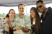 From left, Jamie Reich of Hawaii Medical Assurance Association, Rob Reich of New York Life, Shirel and Reggie Siler of Home Instead Senior Care at PBN's Pau Hana at The Modern Honolulu.