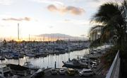Guests at PBN's Pau Hana at The Modern Honolulu got to see the sun set over the Ala Wai yacht harbor.