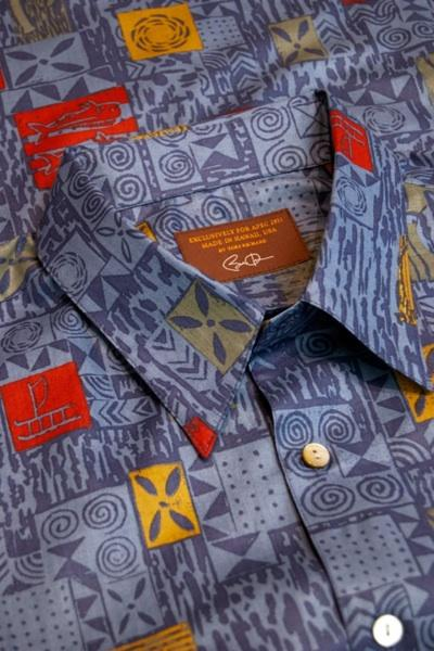 The exclusive, one-of-a-kind aloha shirts given to the 21 APEC leaders were hand-sewn at Tori Richard Ltd.'s Honolulu factory.