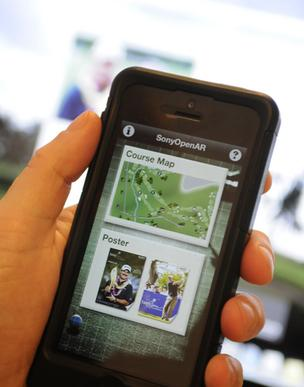 The Sony Open in Hawaii's mobile app lets fans track their favorite players. The tournament began Thursday at Waialae Country Club in Honolulu.