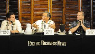 Panelists discuss the most strategic uses for social media at PBN's Technology for Business breakfast seminar Friday.