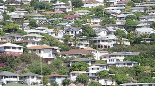 RealtyTrac says yhe number of Hawaii properties in some stage of foreclosure declined in February, compared to the same month a year ago.