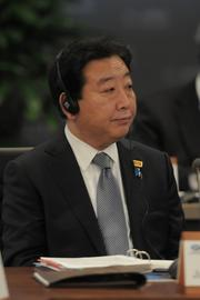 Japan's Prime Minister Yoshihiko Noda at the conference table at the 19th APEC Economic Leaders' meeting Sunday at the JW Marriott Ihilani Resort and Spa at Ko Olina in Hawaii.