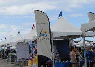 Aulani, a Disney Resort & Spa, had a booth at the 2012 Kaneohe Air Show at Marine Corps Base Hawaii over the weekend.