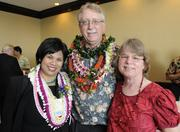 The Hospice Hawaii team, from left, Janice Knapp, Ken and Laurel Zeri, at the Pacific Business News Business Leadership Hawaii event at the Sheraton Waikiki.