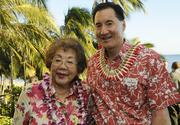 Steven Ai, right, of City Mill, with his mother, Lani, at the Pacific Business News Business Leadership Hawaii event at the Sheraton Waikiki.