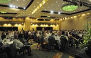 About 550 people attended the the Pacific Business News Business Leadership Hawaii event at the Sheraton Waikiki.