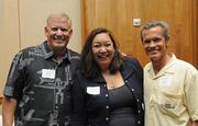 From left: David Brandt of Oahu Auctions, Carol Moore-Yamada of Moore Ideas, and Joe Teipel of Auctions Hawaii.
