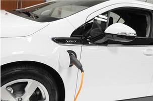 Chevy Volt electric vehicle charger Sacramento International Airport adds EV chargers