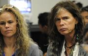 Attorney Dina Lapolt and Aerosmith's Steven Tylerare seen at a Hawaii 