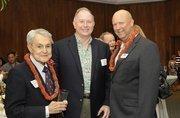 From left: John Henry Felix and Reg Baker of HMAA and PBN Publisher Bob Charlet.
