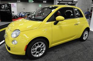 The Fiat 500 is seen on display at the First Hawaiian Auto Show at the Hawaii Convention Center in Honolulu.