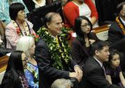 State Rep. Gene Ward, R-Hawaii Kai-Kalama Valley, is seen during the opening day of the Hawaii Legislature's 2013 session Wednesday.