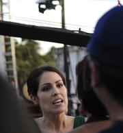 "Michelle Borth, who plays Catherine Rollins on ""Hawaii Five-0,"" walked the red carpet at the ""Hawaii Five-0"" third season premiere at Waikiki's Sunset on the Beach."