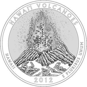 The Kilauea Volcano at Hawaii Volcanoes National Park will be featured on the back of a quarter that will be issued by the U.S. Mint later this year.