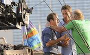 "The Feb. 27 ""Hawaii Five-0"" episode, ""Lekio,"" featured a guest appearance by Scott Caan's father, James Caan — seen here with the younger Caan as Danny Williams and Alex O'Loughlin as Steve McGarrett — as a private investigator named Tony Archer, who lived on his boat."