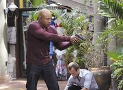 "The April 30 ""Hawaii Five-0"" episode, ""Pa Make Loa,"" teamed the ""Five-0"" crew with a pair of detectives from ""NCIS: Los Angeles,"" including Special Agent Sam Hanna, played by LL Cool J, seen here with ""Five-0's"" Danny Williams, played by Scott Caan, to track down a suspect who is threatening to release a deadly virus into the population."