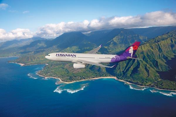 Hawaiian Airlines said it will use the A330-200 aircraft, seen here in this file photo, when it launches flights between Honolulu and Auckland, New Zealand, in March 2013.