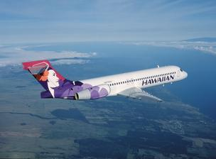 Hawaiian Airlines said its parent company plans to acquire turboprop aircraft to fly to airports not currently served by the airline's fleet of 123-passenger Boeing 717-200 aircraft, seen here.