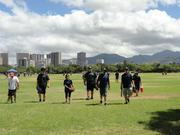 Employees at Bowers + Kubota Consulting find fitness in a variety of ways, including ball games in the park. Bowers + Kubota was named Hawaii's Healthiest Employer in the medium-size company category.