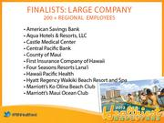 Finalists for the Healthiest Employer in Hawaii award in the large company category.