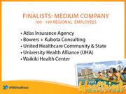 The finalists for Healthiest Employer in Hawaii in the medium-size company category.