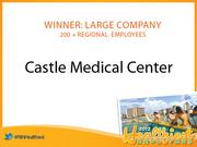 The winner of the Healthiest Employer in Hawaii award in the large company category was Castle Medical Center.