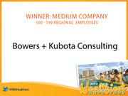 The winner of the Healthiest Employer in Hawaii award in the medium-size company category was Bowers + Kubota Consulting.