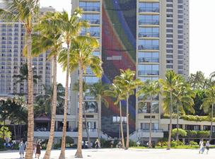 Oahu hotels, including the Hilton Hawaiian Village Waikiki Beach Resort seen in this file photo, recorded a 13.5 percent increase in average daily room rates during the week ended Sept. 8, according to a report by Hospitality Advisors LLC and Smith Travel