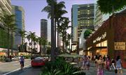 This rendering shows enhanced pedestrian space along Auahi Street as part of The Howard Hughes Corp.'s revisions to a master plan for the 60-acre Ward Centers in Honolulu's Kakaako neighborhood. The developer presented the plans to the Hawaii Community Development Authority on Wednesday.