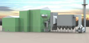 This rendering shows Hu Honua's biomass plant being built on the site of the former Pepeekeo Sugar Mill on Hawaii's Hamakua Coast. Hawaii Electric Light Co. has signed a power purchase agreement with Hu Honua for 21.5 megawatts of power from the plant.