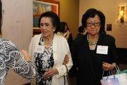 Joanna Sullivan and Blossom Tyau arrive at PBN's 2012 Women Who Mean Business event at The Royal Hawaiian in Waikiki.