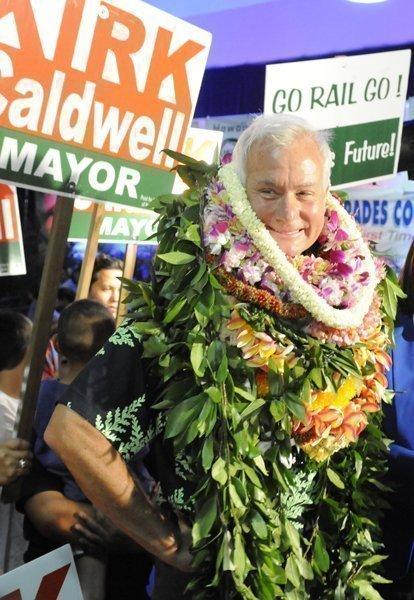 Kirk Caldwell was elected Honolulu mayor Tuesday night, defeating former Hawaii Gov. Ben Cayetano.