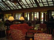 The lobby of the Four Seasons Resort Lanai, The Lodge at Koele, which is just outside Lanai City, is seen in this 2009 file photo.