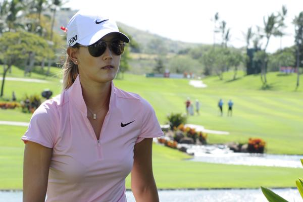 Michelle Wie made the cut at the LPGA Lotte Championship.