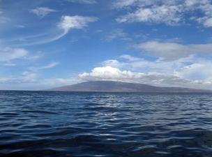 The 141 square-mile island of Lanai is seen in this 2007 file photo from Lahaina on neighboring Maui.