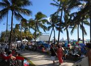 "Thousands crowded Waikiki Beach Sunday evening for premiere of the third season of the CBS crime drama ""Hawaii Five-0."""