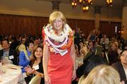 Finalist Martha Smith makes her way to the stage at PBN's 2012 Women Who Mean Business event at The Royal Hawaiian in Waikiki.
