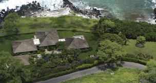 This aerial shot shows the 1.7-acre Makena property purchased by PayPal co-founder Peter Thiel for $27 million, the largest amount ever paid for a Maui residence. Broker Nancy Callahan with Wailea Group negotiated the sale.
