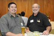 Kaleo McCabe of GD Solutions and Greg Sokolowski of Central Pacific Bank.