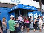 Fans at the NFL Pro Bowl at Aloha Stadium waited in long lines for cash from a Bank of Hawaii ATM  so they could buy food, souvenirs and NFL merchandise.