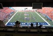 One private event in Aloha Stadium's baseball press box gave Pro Bowl fans an unobstructed view of the action from high above the field.