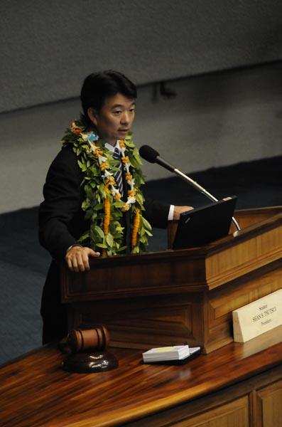 Lt. Gov. Shan Tsutsui, seen in this 2012 file photo, is in Washington, D.C., this week attending the National Lieutenant Governors Association meeting.