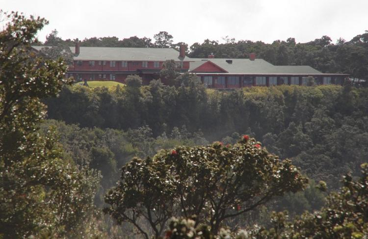 The Volcano House reopened Thursday after the federal government shutdown ended. Thehistoric hotel, seen in this undated file photo, is located within the Hawaii Volcanoes National Park.