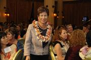 Finalist Masako Nashimoto-Luttrell makes her way to the stage at PBN's 2012 Women Who Mean Business event at The Royal Hawaiian in Waikiki.