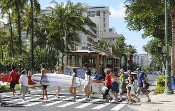 A state economic forecast by the Hawaii Department of Business, Economic Development and Tourism forecasts visitor arrivals to grow by 4.3 percent this year to more than 8.3 million visitors.
