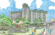 An architect's rendering previews what the Kalihi complex will look like following $316 million in renovations.