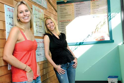 Sisters Noel Pietsch, left, and Stephanie Pietsch Gambetta opened their second Fish Taco restaurant, in Kahala, this week.